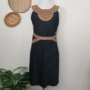 Free People mirror detail black dress L